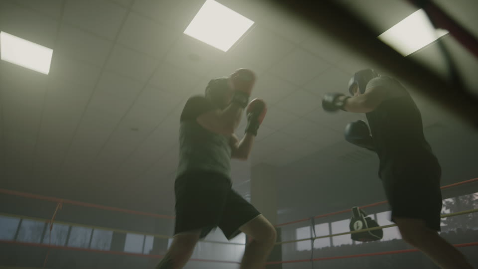Boxing Sparring (58012) | 8K Royalty Free Premium Stock Footage Video |  Shot on RED | RawFilm
