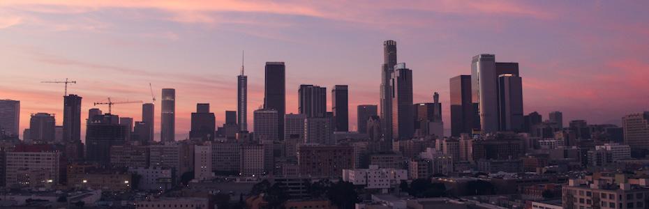 The Hues of LA Skyline a Sunset
