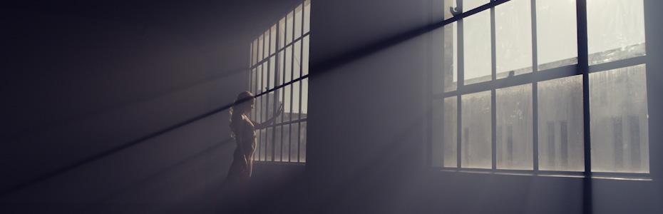 A Ballerina Practicing in Her Studio