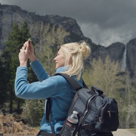 8K premium royalty-free stock footage shot on RED Camera, instantly available in RED R3D format. License this collection of Yosemite Hiker now!
