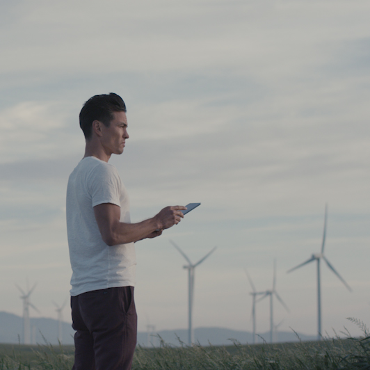 8K premium royalty-free stock footage shot on RED Camera, instantly available in RED R3D format. License this collection of On a Wind Farm now!