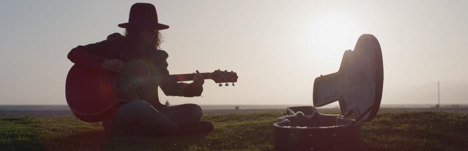 Playing Guitar in Urban LA