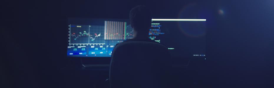 Hacker Working On Blockchain