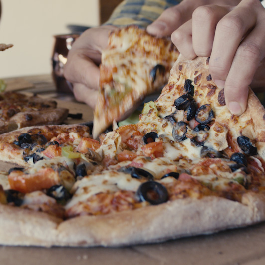 8K premium royalty-free stock footage shot on RED Camera, instantly available in RED R3D format. License this collection of Eating Pizza now!