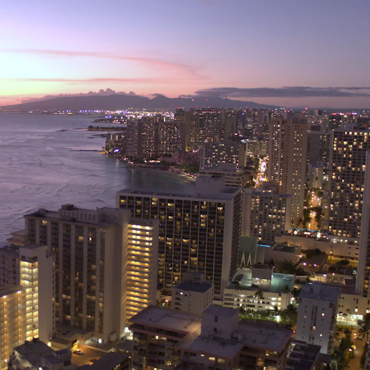8K premium royalty-free stock footage shot on RED Camera, instantly available in RED R3D format. License this collection of Honolulu Aerials now!