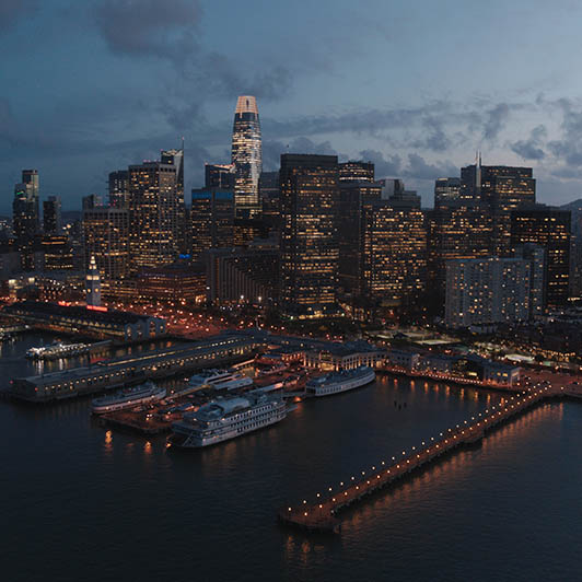 8K premium royalty-free stock footage shot on RED Camera, instantly available in RED R3D format. License this collection of San Francisco Aerial now!