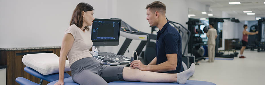 Woman At Physiotherapist