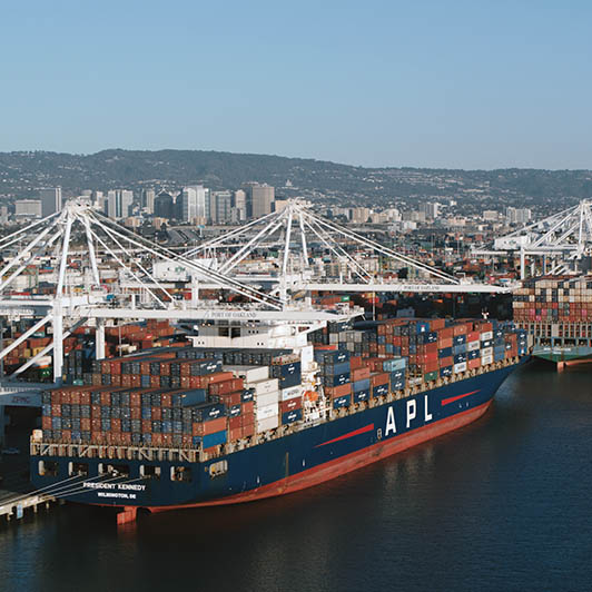 8K premium royalty-free stock footage shot on RED Camera, instantly available in RED R3D format. License this collection of Cargo Port Aerial now!