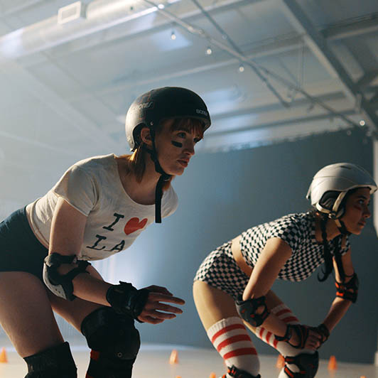 8K premium royalty-free stock footage shot on RED Camera, instantly available in RED R3D format. License this collection of Roller Derby Training now!