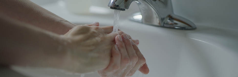 High-Quality Video Footage Featuring Close-Ups Of A Person Washing Their Hands