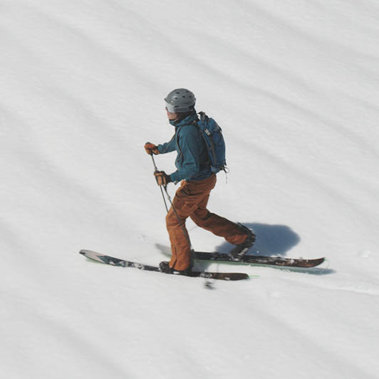 8K premium royalty-free stock footage shot on RED Camera, instantly available in RED R3D format. License this collection of Skier In The Mountains now!
