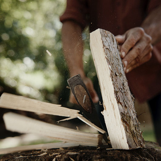 8K premium royalty-free stock footage shot on RED Camera, instantly available in RED R3D format. License this collection of Man Chopping Wood now!