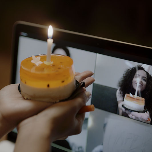 8K premium royalty-free stock footage shot on RED Camera, instantly available in RED R3D format. License this collection of Birthday Celebration Via Video Call now!