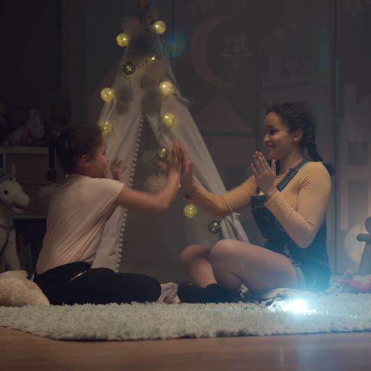 8K premium royalty-free stock footage shot on RED Camera, instantly available in RED R3D format. License this collection of Sisters Playing In The Room now!