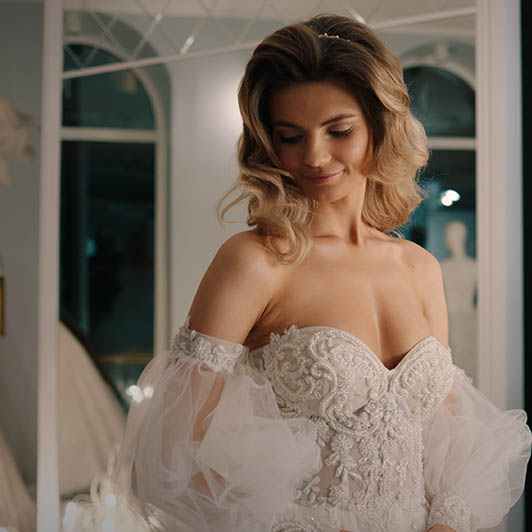 8K premium royalty-free stock footage shot on RED Camera, instantly available in RED R3D format. License this collection of Wedding Dress Salon now!