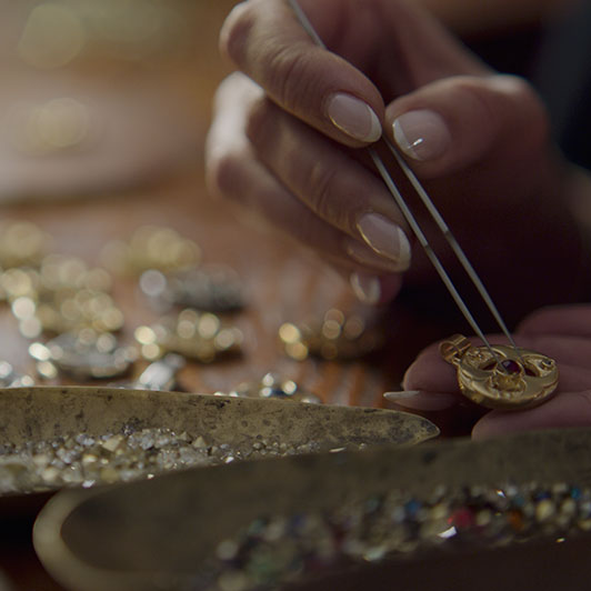 8K premium royalty-free stock footage shot on RED Camera, instantly available in RED R3D format. License this collection of Handmade Jewelry Crafter now!