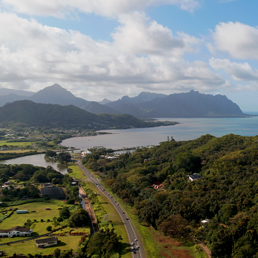 8K premium royalty-free stock footage shot on RED Camera, instantly available in RED R3D format. License this collection of Oahu Aerials now!